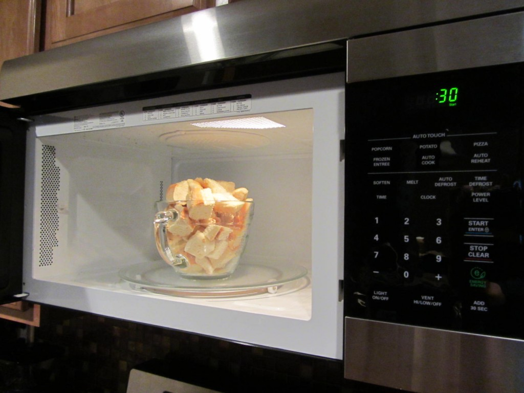 French Toast casserole - cubes in microwave