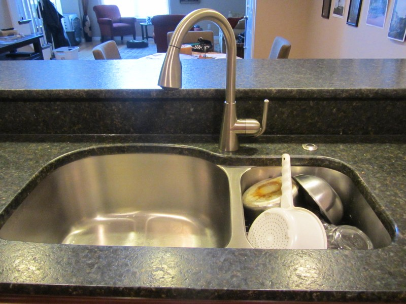 Kitchen Double Sink Dish Drainer