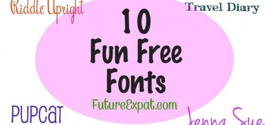 10 Fun Free Fonts - Future Expat