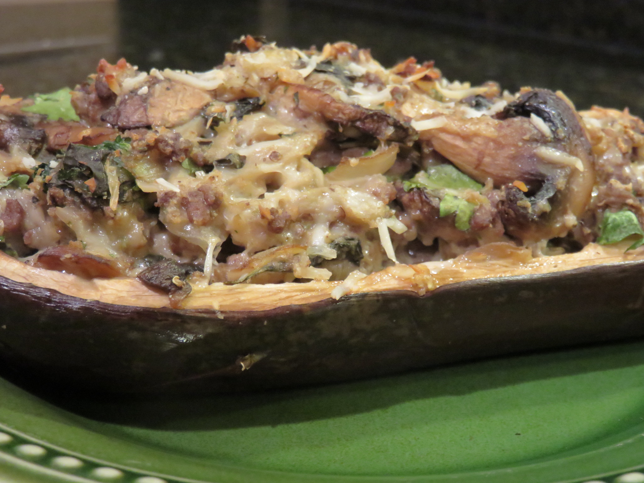 Healthy Recipes: Stuffed Ground Beef Eggplant