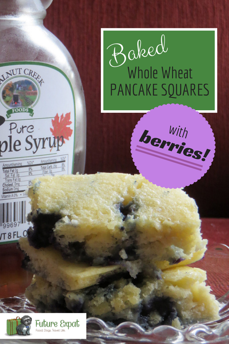 Baked Whole Wheat Pancake Squares with Berries | Future Expat