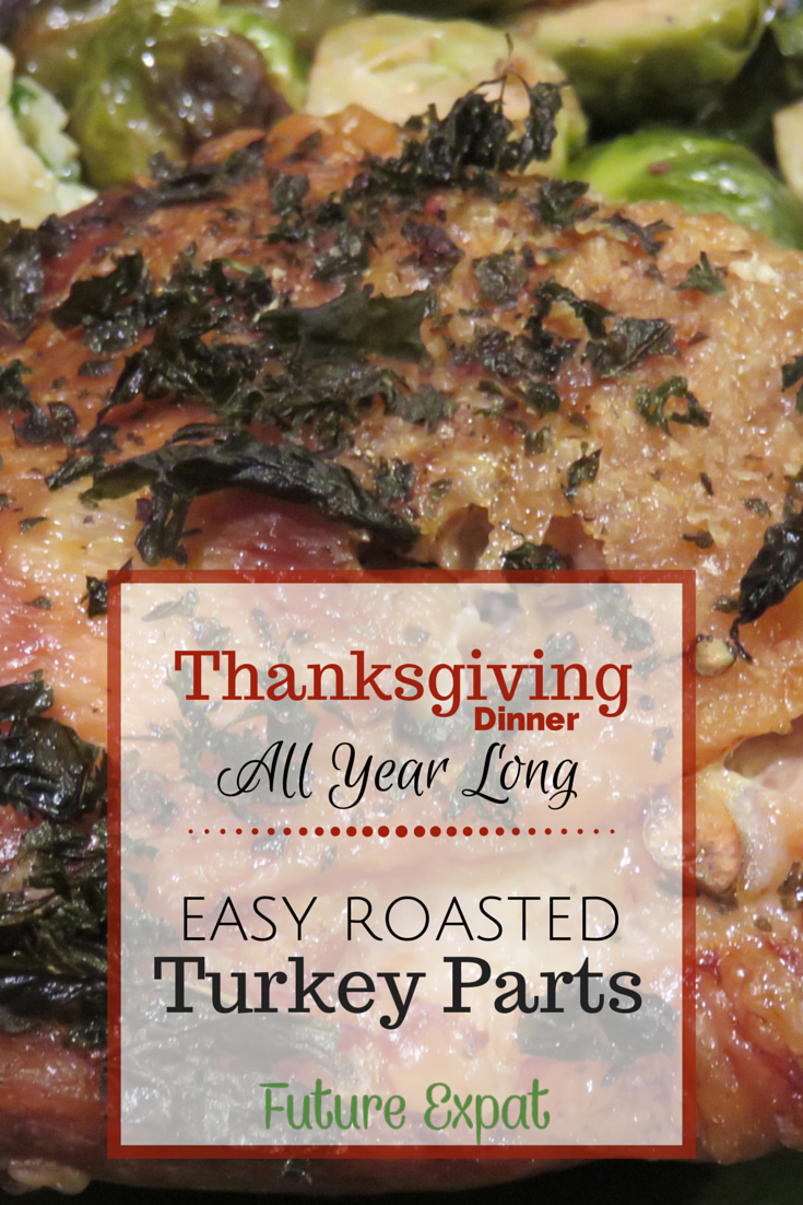Easy Roasted Turkey Parts - Thanksgiving Dinner All Year Long | Future Expat