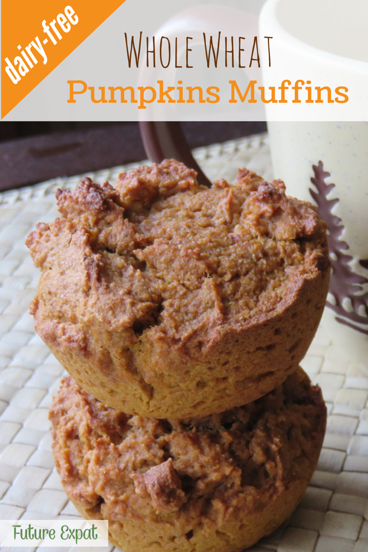 Whole Wheat Pumpkins Muffins (Dairy Free) | Future Expat