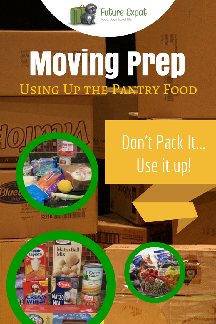 Moving Prep: Using Up the Pantry Food