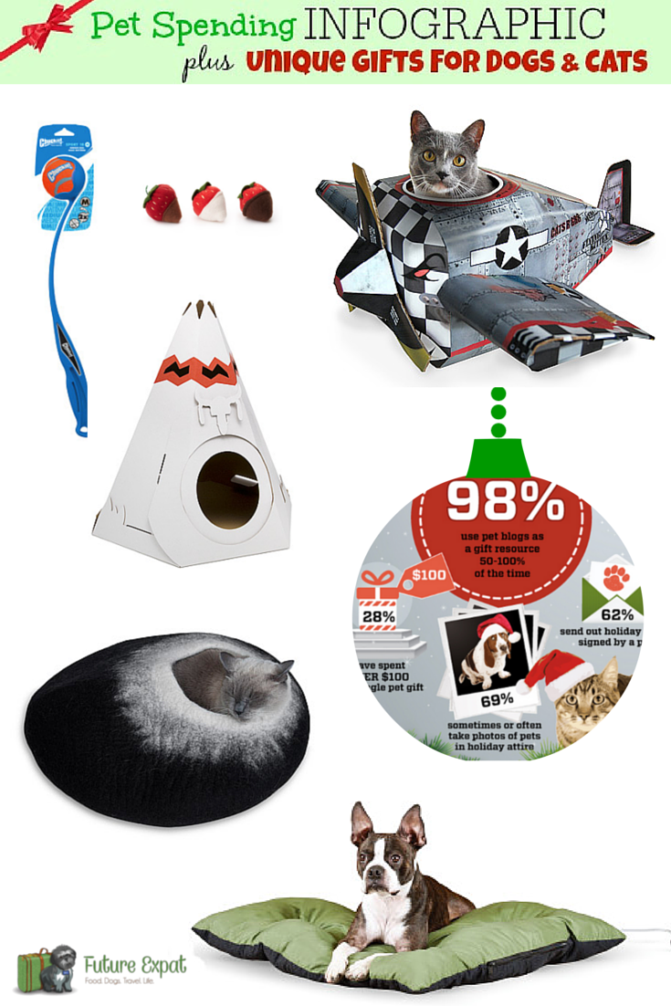 Pet Gift Spending INFOGRAPHIC plus Unique Gifts for Dogs and Cats | Future Expat