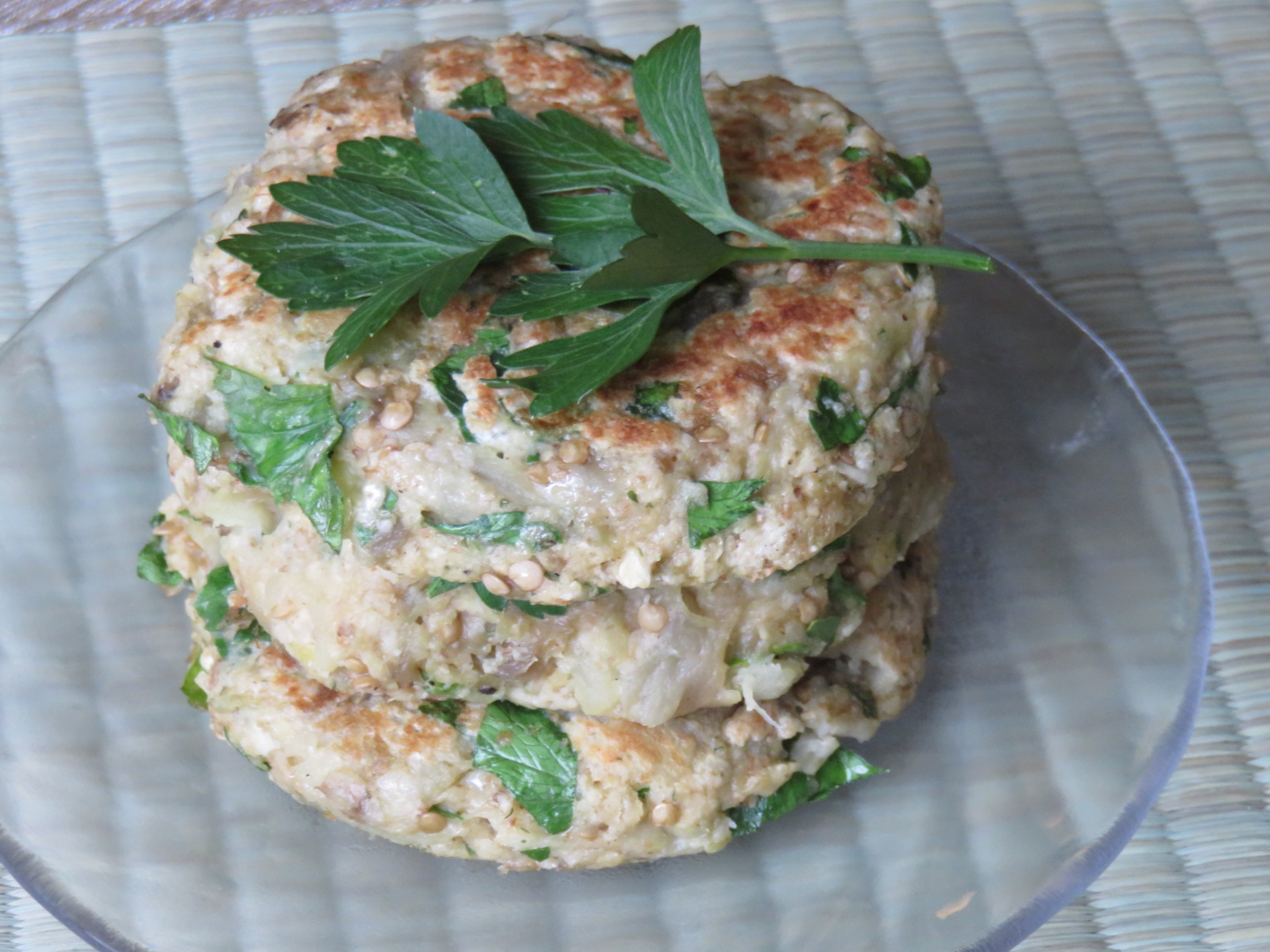 Vegetarian Main Dish: Eggplant Patties