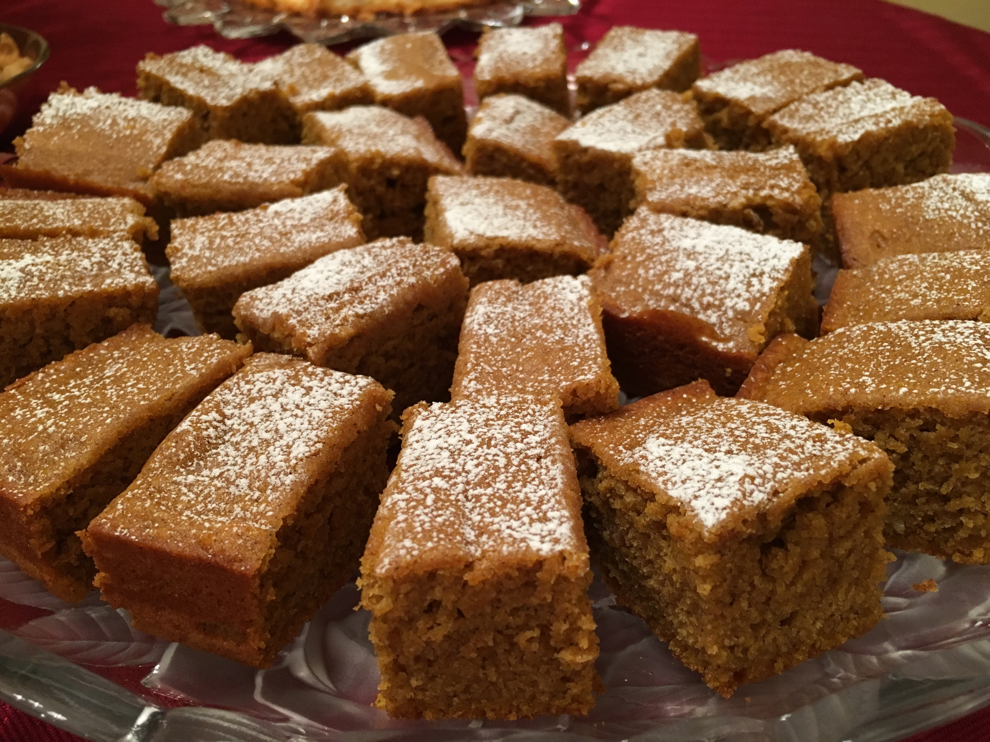 Pumpkin Cake (Bar Style)