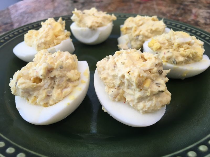 Crab Deviled Eggs | Future Expat