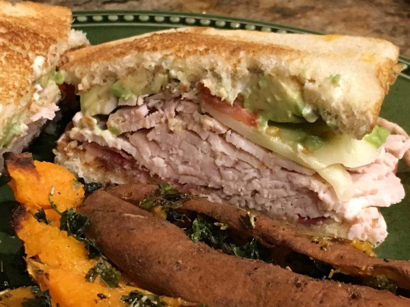 Turkey Avocado Bacon Sandwich