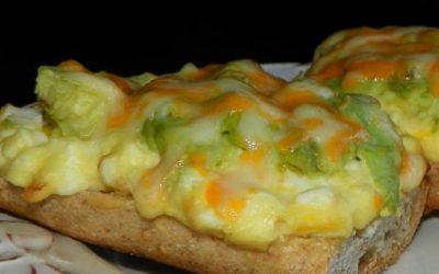 Avocado and Egg Salad Open Faced Sandwich